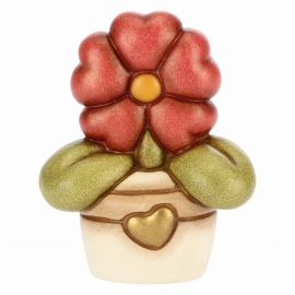 Vase with flower primrose