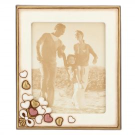 Photo frame with hearts 22 x 27 cm