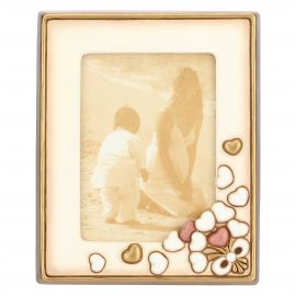 Country photo frame with hearts 13 x 18 cm