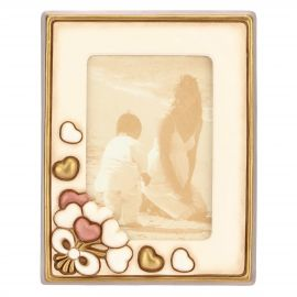 Country photo frame with hearts 10 x 15 cm