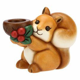 """Porta candela scoiattolo in ceramica """"Preludio d'inverno"""""""