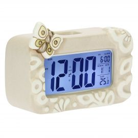 Prestige digital clock with butterfly