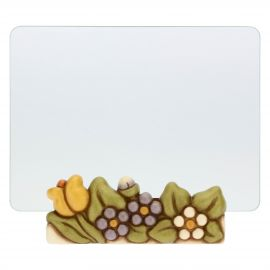 Primavera glass photo frame with flowers, format 13 x18 cm