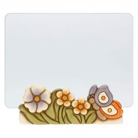 Primavera glass photo frame with butterfly, format 13x18 cm