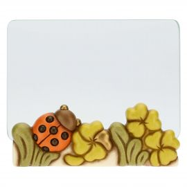 Fortuna glass photo frame with ladybird, format 13x18 cm