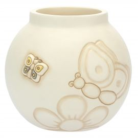 Elegance vase with butterflies and flower