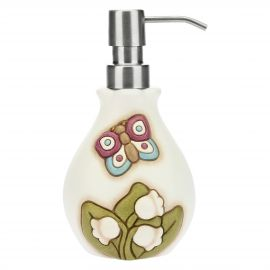 Country ceramic soap dispenser
