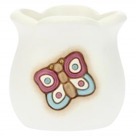 Country ceramic toothbrush holder