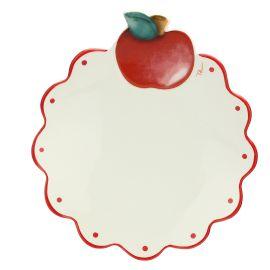 """Piatto """"Frutti rossi"""" multiuso grande con mela"""