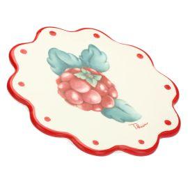 """Sottopentola in ceramica """"Frutti rossi"""""""