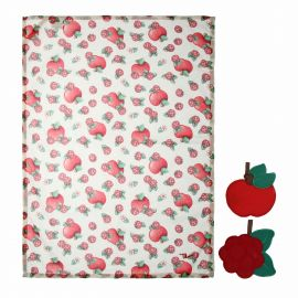 "Set canvas and 2 pot holders ""Frutti rossi"""