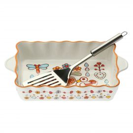 Small oven tray Folk with spatula