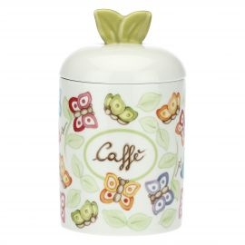 """Farfalle in Festa"" porcelain coffee jar"