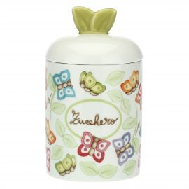 """Farfalle in Festa"" porcelain sugar jar"