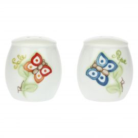 """Farfalle in Festa"" salt and pepper set"