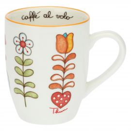 Mug con scatola in latta Folk