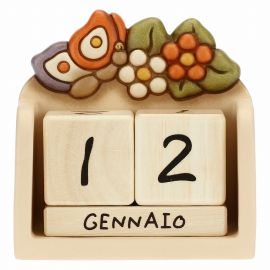 Country ceramic perpetual desk calendar with butterfly