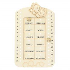 Elegance ceramic perpetual wall calendar