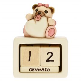 Birth of baby girl ceramic perpetual desk calendar
