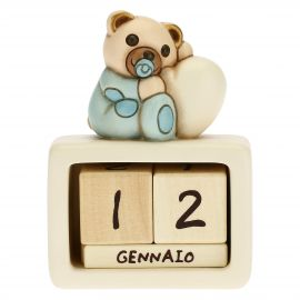 Birth of baby boy ceramic perpetual desk calendar