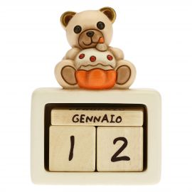 Unisex birthday ceramic perpetual desk calendar