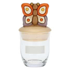 Country jar with butterfly