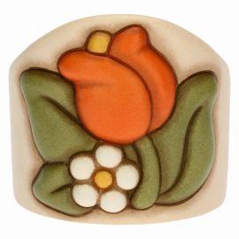 Einzelner Becherhalter Country aus Keramik mit Tulpe