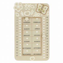 Prestige ceramic perpetual wall calendar