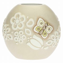 Prestige vase with butterfly and flowers