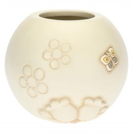 Elegance vase with butterfly and flowers
