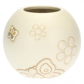 Elegance vase with butterflies and flowers