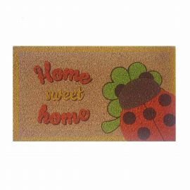 Home Sweet Home doormat with ladybird lucky charm