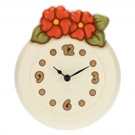 Orologio da parete tondo con fiori