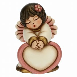Pink angel with customizable heart