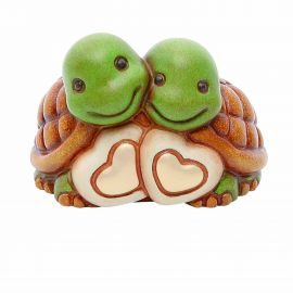 Couple of turtles with hearts