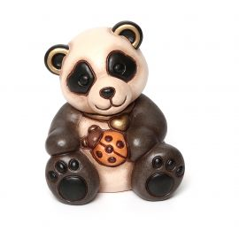 Panda with lucky ladybird