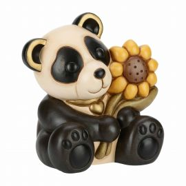 Panda with sunflower
