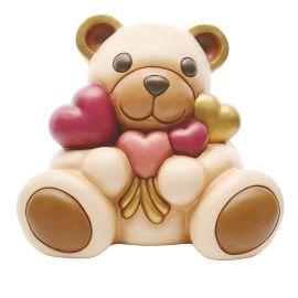 Teddy con mazzo di cuori maxi