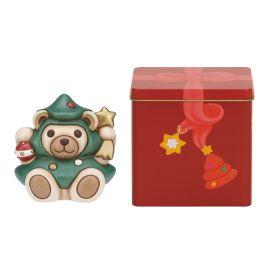 Teddy albero di Natale con scatola in latta