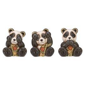 "Tris panda ""non vedo, non sento, non parlo"" piccolo"