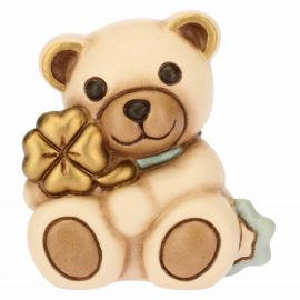 Teddy With Blue Four-Leaf Clover