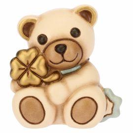 Teddy mini con quadrifoglio azzurro
