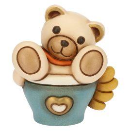 """Teddy """"Thun caffè"""" azzurro piccolo"""