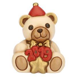 """Teddy piccolo """"Buon 2019"""" rosso"""