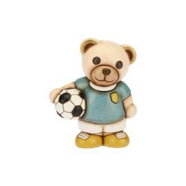 Teddy piccolo con pallone da calcio