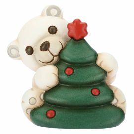 Small polar bear with Christmas tree