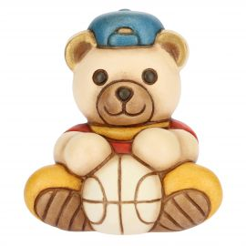 Teddy piccolo con palla da basket