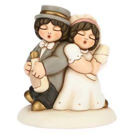 Cake topper Brautpaar Trinkspruch mittel