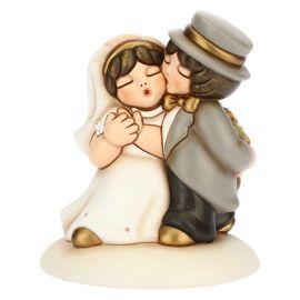 Cake topper coppia sposini medi
