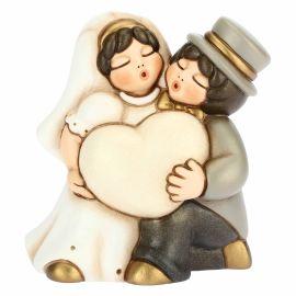 Coppia sposini piccoli con cuore personalizzabile